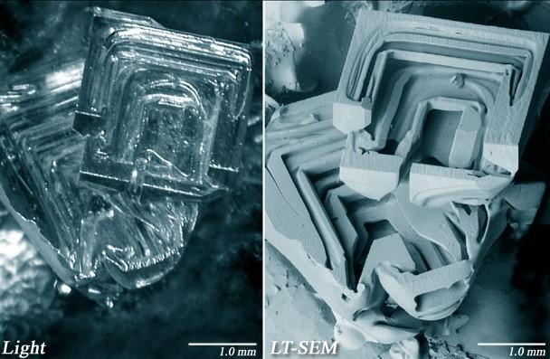 hó mikroszkóp alatt (hó, mikroszkóp, )