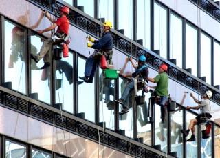 ipari alpinisták (alpinista, ipari alpinista, iroda, munkás,)