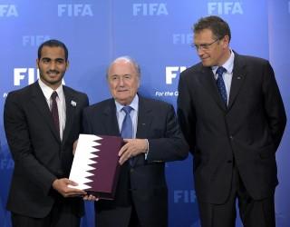 katar 2022 (katar 2022, foci vb 2022, Mohammed bin Hamad Al Thani, Sepp Blatter, Jerome Valcke, )
