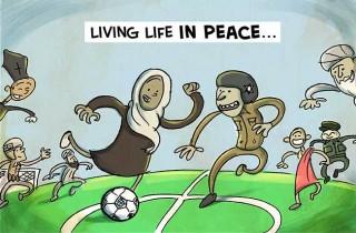 peace (béke, karikatúra, )
