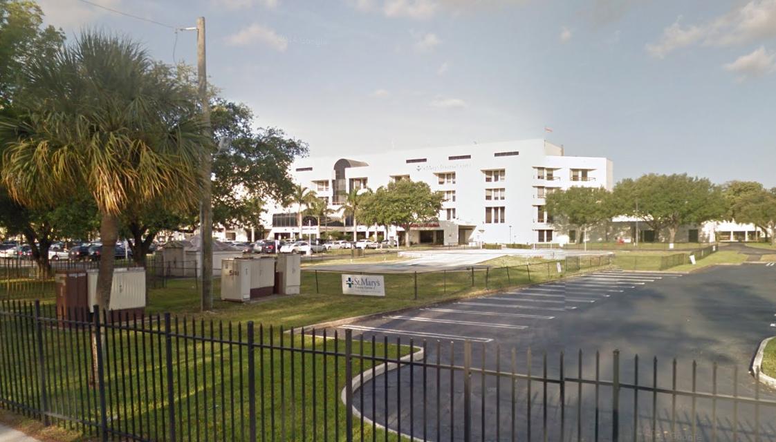 st mary's, west palm beach (kórház, florida, usa, )