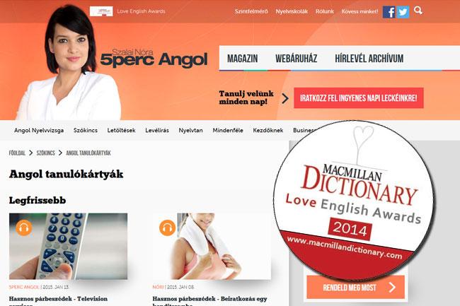 5percangol-dij-02 (technet, díj, internet, elismerés, angol, nyelvoktatás, oktatás, nemzetközi, weboldal, siker, )