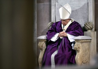 A pápa hamvazószerdán (ferenc pápa, )