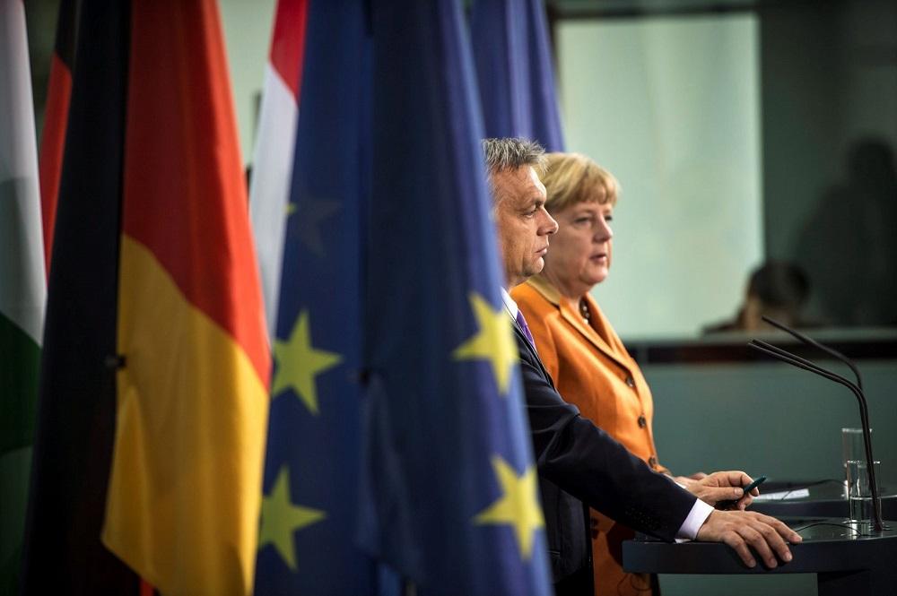 Angel Merkel és Orbán Viktor (angela merkel, orbán viktor)