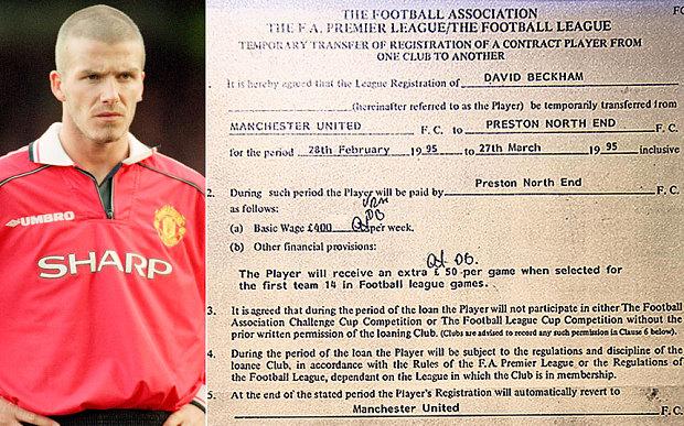 David Beckham szerződés (david beckham, )