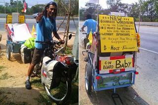 Juan Francisco Guillermo (Juan Francisco Guillermo, Guiness kísérlet, biciklis baleset, )