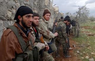 Katonák Aleppónál (szíria, )
