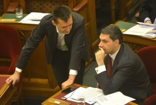 Lázár és Rogán a Parlamentben (lázár jános, rogán antal, )