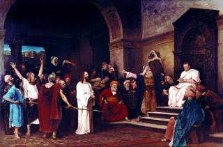 Munkácsy: Krisztus Pilátus előtt (munkácsy mihály, festmény)