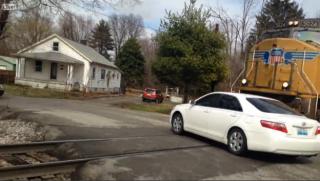 Autó vs vonat (vonat, autó, ütközés, )