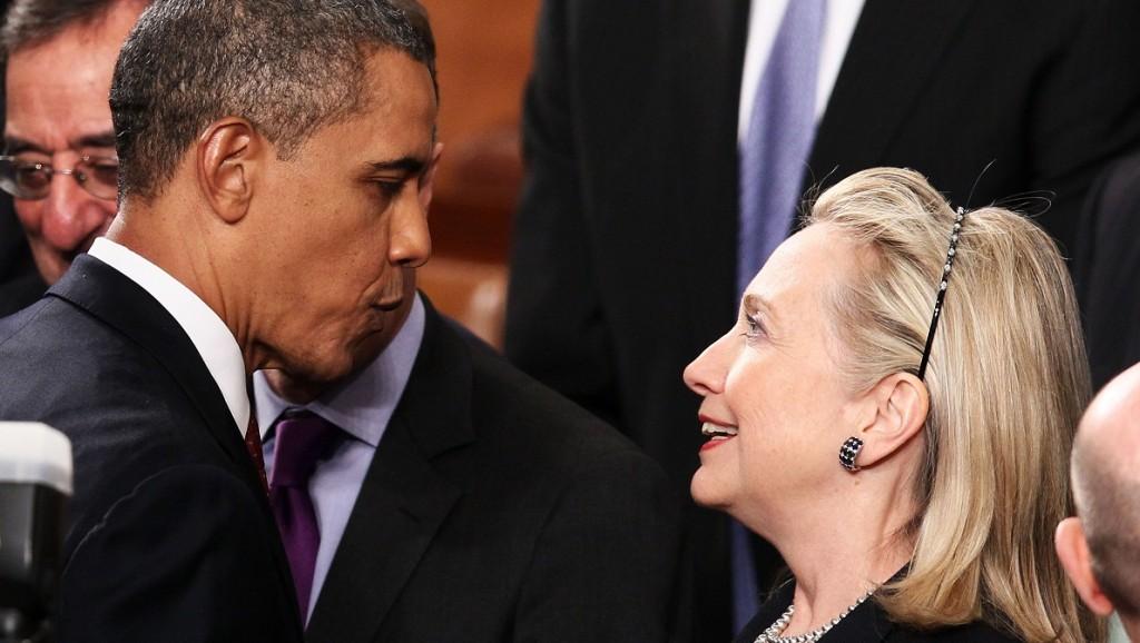 Barack Obama és Hillary Clinton (barack obama, hillary clinton, )