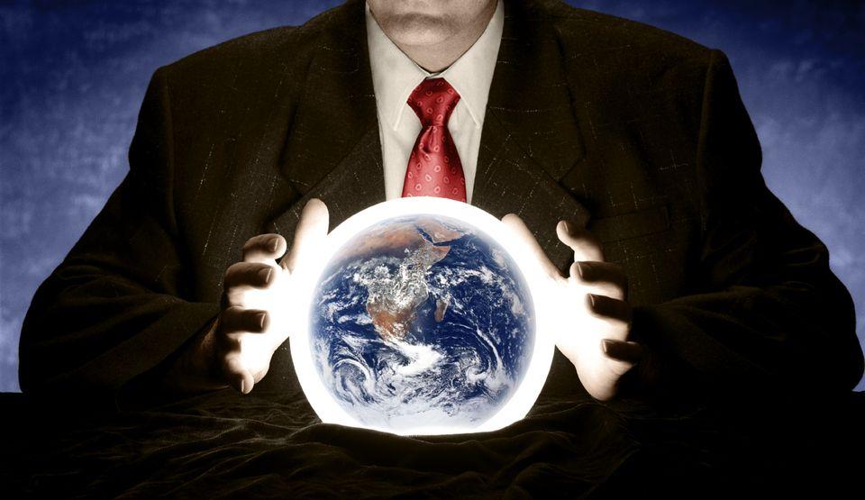 Föld a kristálygömbben  (föld, kristálygömb, jós, )