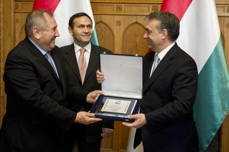 Gyárfás Tamás és Orbán Viktor (gyárfás tamás, orbán viktor, cornel marculescu)