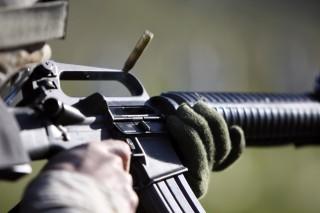 M16 gépkarabély (m16, m16a2, gépkarabély, gépfegyver, géppuska, )