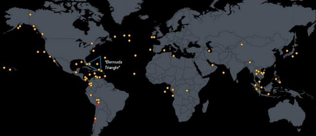 Maps - eltűnt gépek (térkép, eltűnt repülő, )