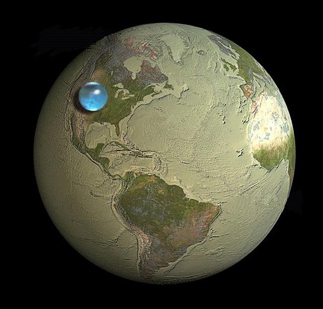 Maps - vízmennyiség (térkép, víz, )