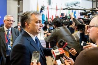 Orbán az EU-csúcs után (orbán viktor, )