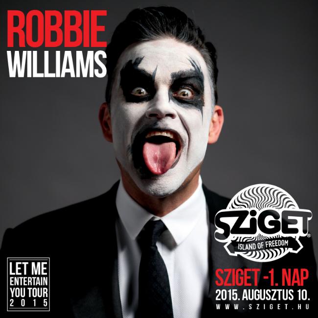 Robbie Williams plakát (robbie williams, sziget, )