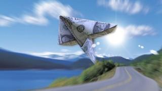 dollár-repülő (dollár, papírrepülő, )