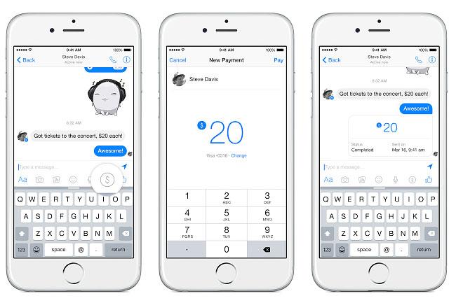 facebook-fizetes (facebook, fizetés, átutalás, bank, tranzakció, messenger, csevegő, chat, )