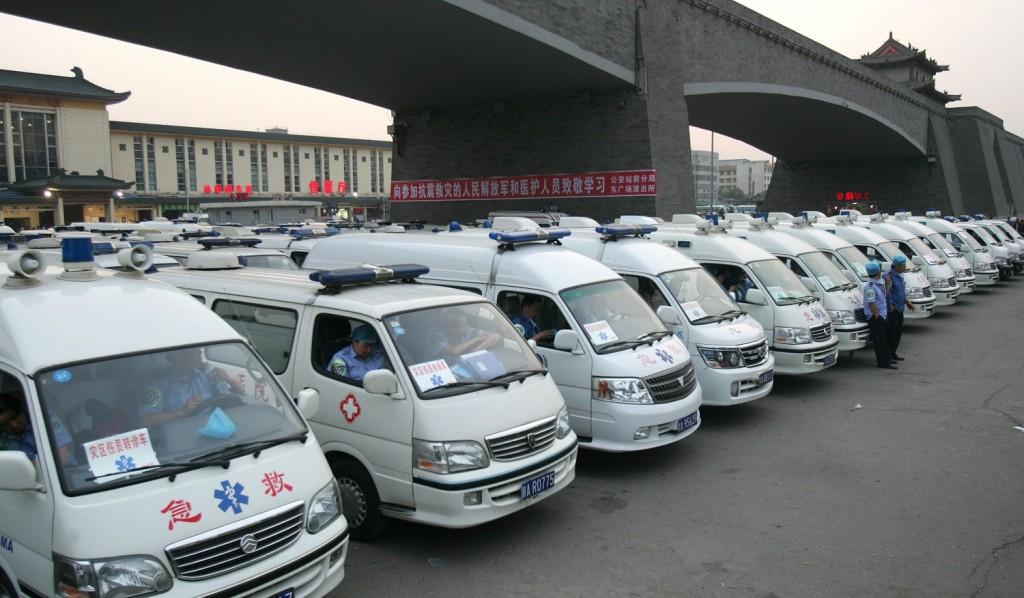 Kínai mentőautók (kína, mentőautók, )
