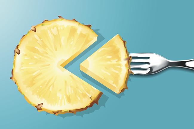 ananász (ananász, gyümülcs, déligyümölcs, életmód)