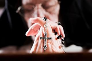 idős apáca (apáca, ima, )