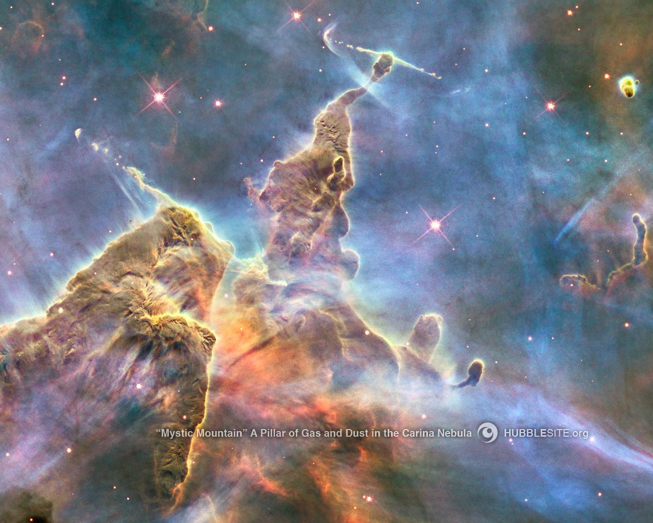 misztikus hegy (univerzum, csillagköd,)