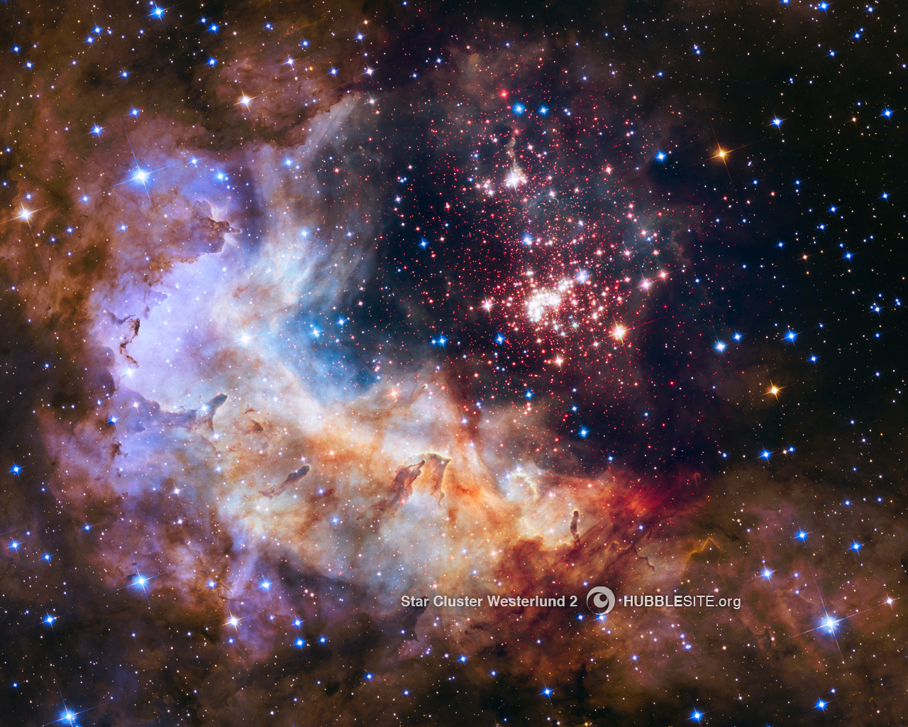 westerlund 2 csillaghalmaz (csillaghalmaz, világűr, )