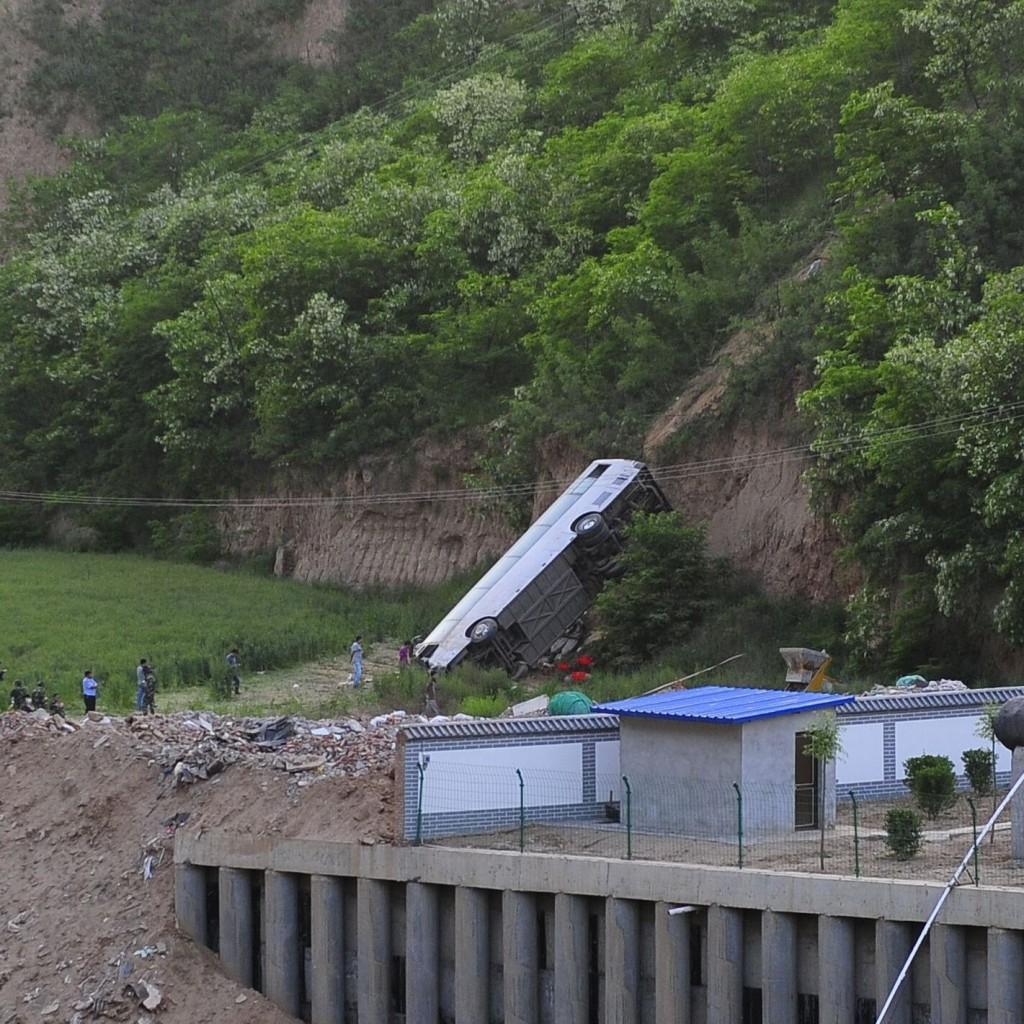 Buszbaleset Kínában (Array)