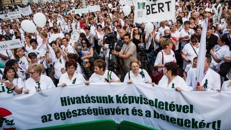 Egészségügyi tüntetés (Array)