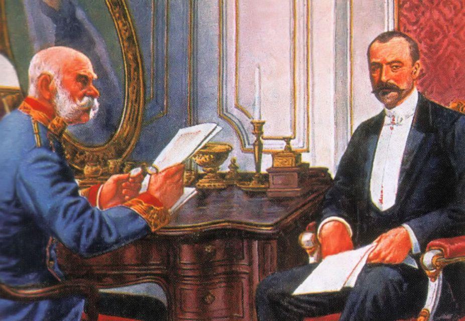 Ferenc József és Tisza István (Array)