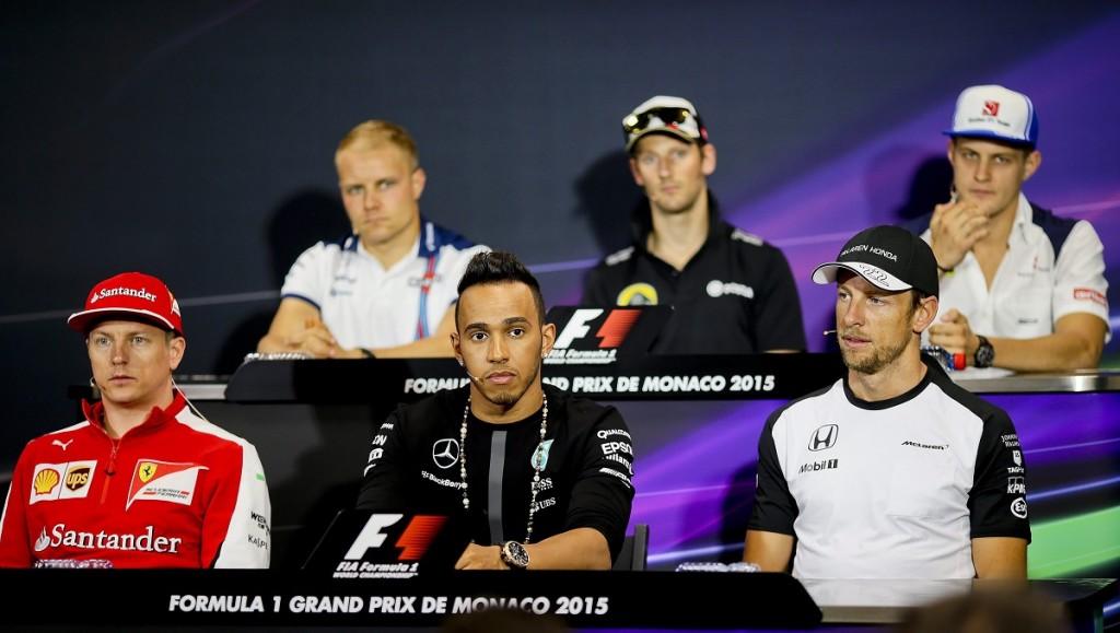 Kimi Räikkönen, Lewis Hamilton, Jenson Button (Array)