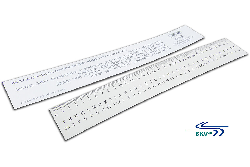 bkv papírvonalzó (Array)