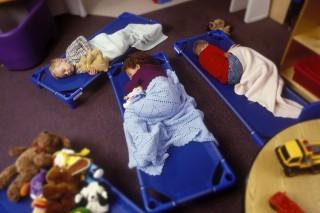 gyermek, napközi, ápolás,  (Array)