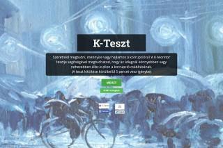 k teszt (Array)
