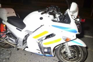 motoros rendőr balesete (Array)