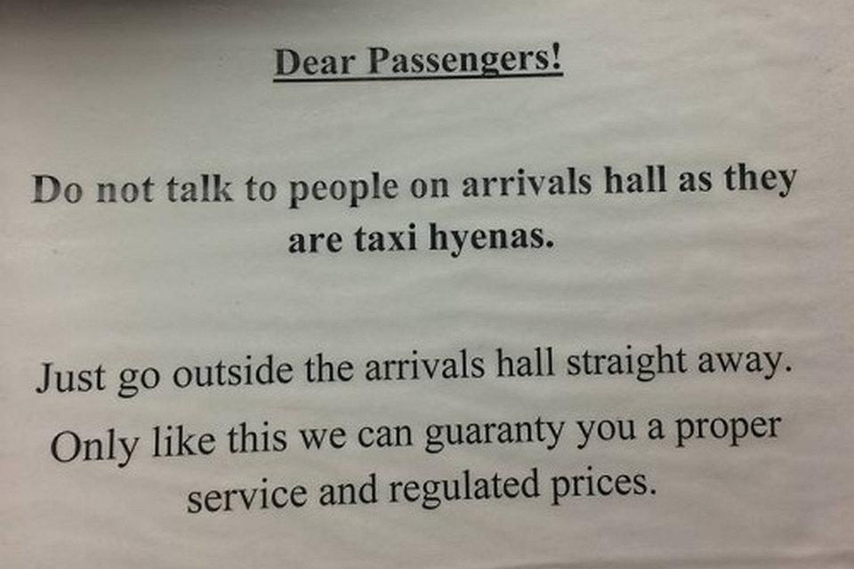 taxishiéna figyelmeztetés (Array)