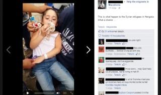 szír menekült kislány (Array)