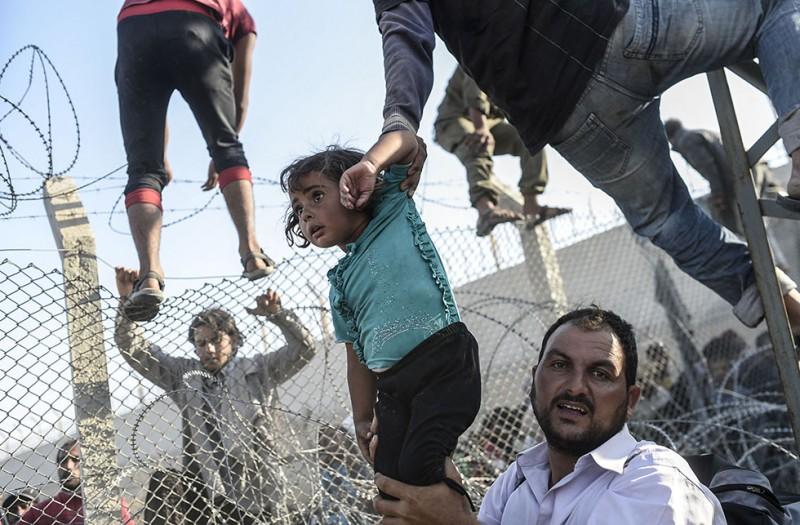 szíriai menkültek (Array)