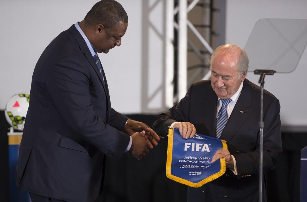Jeffrey Webb, Sepp Blatter (Array)