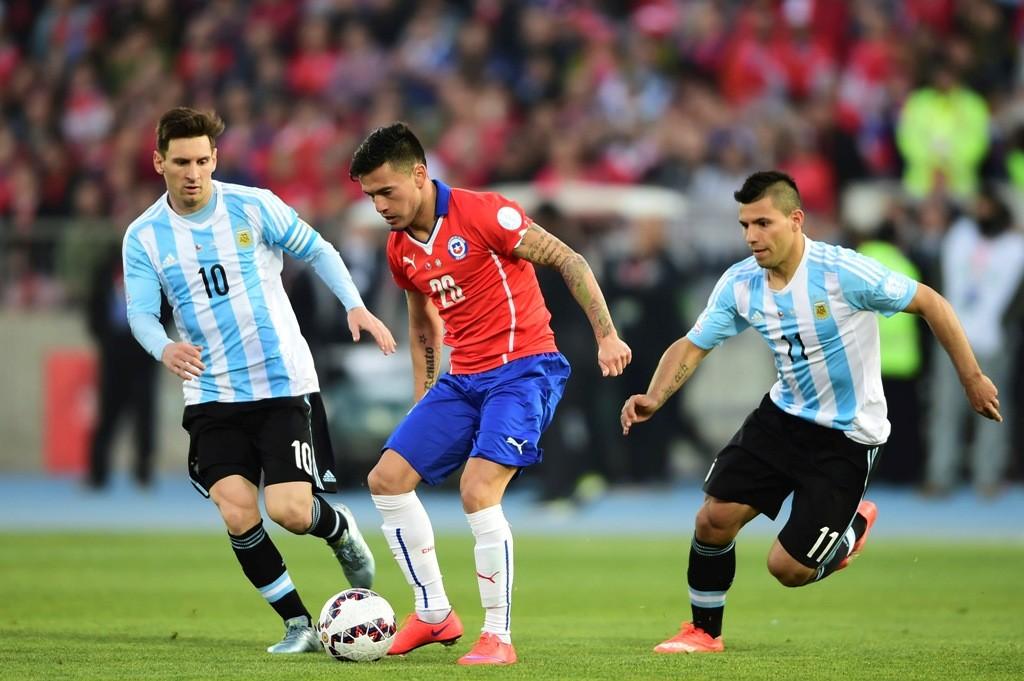 Lionel Messi, Sergio Agüero (Array)