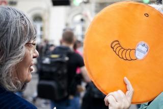 Orbán Viktor, demonstráció (Array)