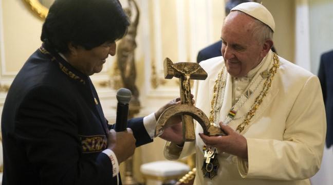 ferenc pápa, evo morales (Array)