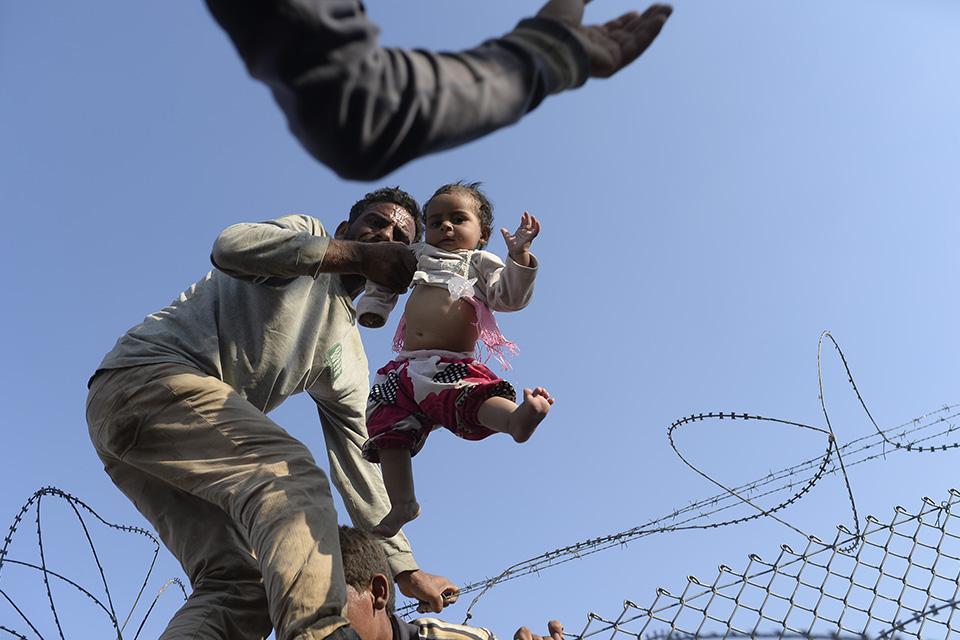 határzár, törökország, szíria határ (Array)