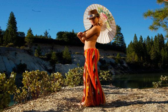 színes, horgolt nadrág, női (Array)
