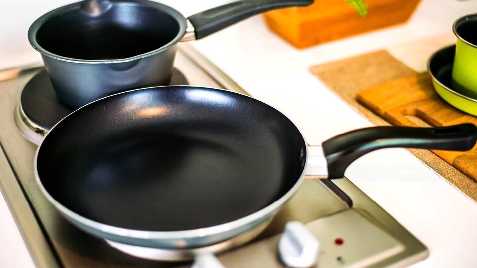 termékbemutató, edény, teflon,  (Array)