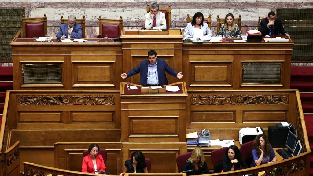 Alexis Ciprasz a görög parlamentben (Array)