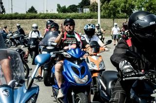 Lerohanták a tüntető motorosok Martonfát (Array)