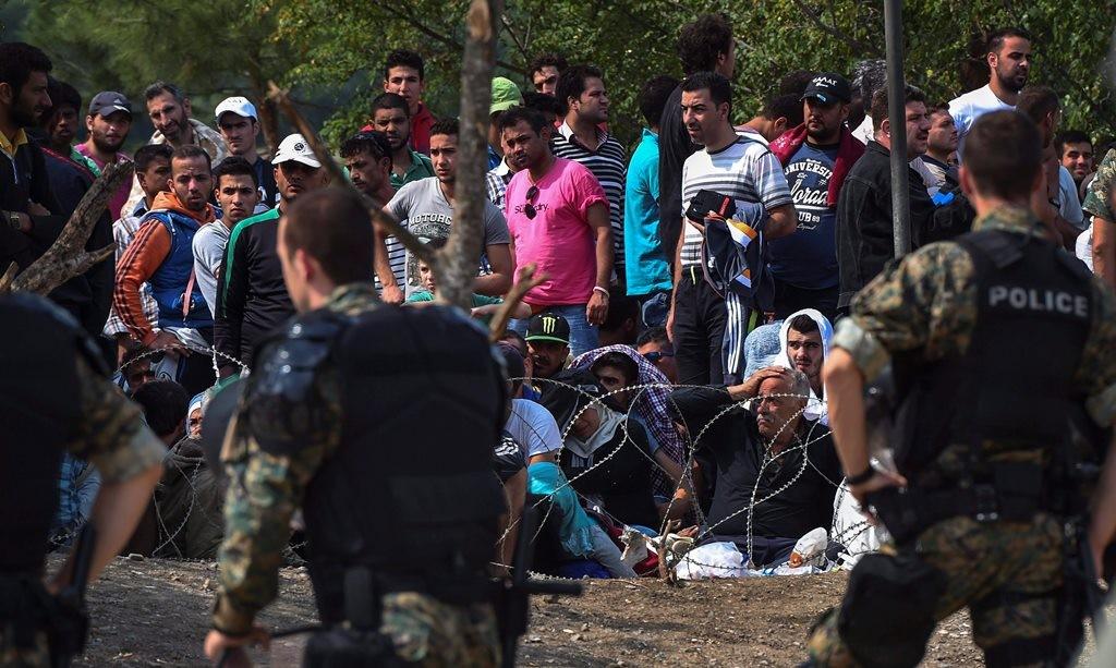 Menekültek Macedóniában (Array)